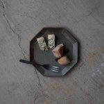 寿山窯 angle アングル 18.5cmプレート グリーン[美濃焼]