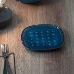★ラッピング無料★北欧ブルー 深ブルー crust トーストプレート(パン皿)[美濃焼]