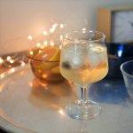 今夜は家飲み♪ ステムの短いワイングラス 220ml