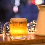今夜は家飲み♪ ショートサイズのビールジョッキ 380ml