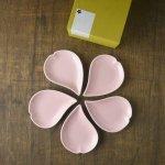 【箱入り5枚セット】さくらひとひら 11cm豆皿 ピンク[美濃焼]