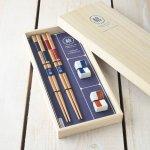 ★ラッピング無料★【ギフト】市松美琴箸置き揃え 箸ギフト