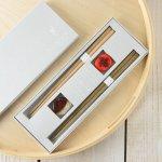 ★ラッピング無料★【ギフト】tetoca 手にとる果実 箸ギフト 栗&柿