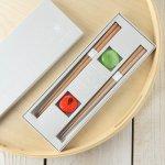 ★ラッピング無料★【ギフト】tetoca 手にとる果実 箸ギフト 蜜柑&梅