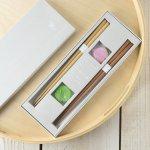 ★ラッピング無料★【ギフト】tetoca 手にとる果実 箸ギフト 梅&桃