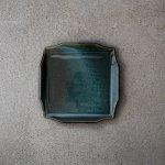 寿山窯 rim リム スクエア M(17cm) エバーグリーン[美濃焼]