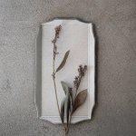 寿山窯 rim リム レクタングル M(29x16cm) ホワイトアッシュ[美濃焼]