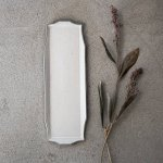 寿山窯 rim リム ロング M(29x10cm) ホワイトアッシュ[美濃焼]