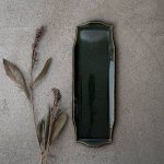 寿山窯 rim リム ロング M(29x10cm) エバーグリーン[美濃焼]