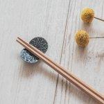 【メール便対応】asumi(彩澄) 4.5cmちょうちょ型箸置き ネイビー[美濃焼]