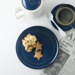 北欧ブルー 深ブルー 19cm中皿(ケーキ皿)[美濃焼]