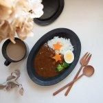 スヴァット 24cmリムオーバルカレー皿[美濃焼]