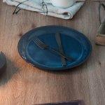 北欧ブルー 深ブルー 27cmプレート[美濃焼]