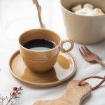 ヨシタ手工業デザイン室 TRIP WARE コーヒーカップ&ソーサー80+130 キャラメル[美濃焼]