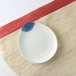 16.3cmしずく型粉引き小皿[アウトレット訳あり][美濃焼]