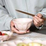 カネコ小兵製陶所 リンカ  (輪花)  11cm茶碗 桃練[美濃焼]