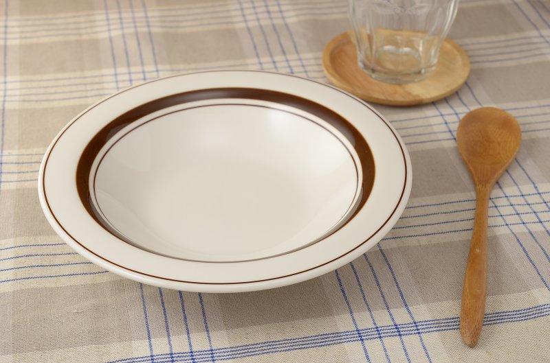 スノートンボーダー 8インチカレー皿(8インチスープ/21.3cm)[アウトレット訳あり][美濃焼]