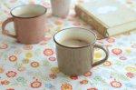 ★ラッピング無料★おとな色・小さめホーローみたいなマグカップ いわいちゃ[アウトレット訳あり][美濃焼]