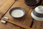 チョコ削り 11cm小皿 ライン/ホワイト[美濃焼]