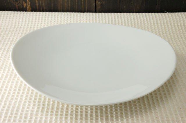 オーバル 25cm深皿 ホワイト[アウトレット訳あり][美濃焼]