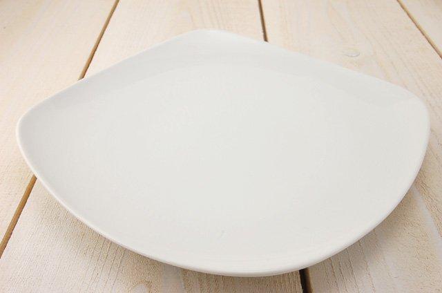 スクエア25cm浅皿 ホワイト[アウトレット訳あり][美濃焼]