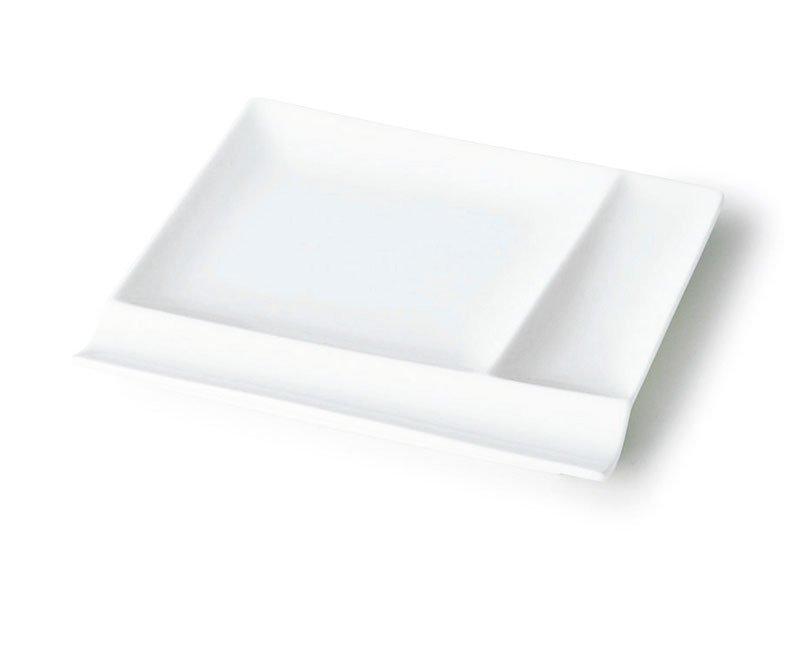 深山 isola-イゾラ- パレットプレートM(17cm) 白磁(裏印あり)[美濃焼]