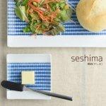 深山(miyama.) cecima-瀬縞- 9cm豆皿 絞り柄[美濃焼]