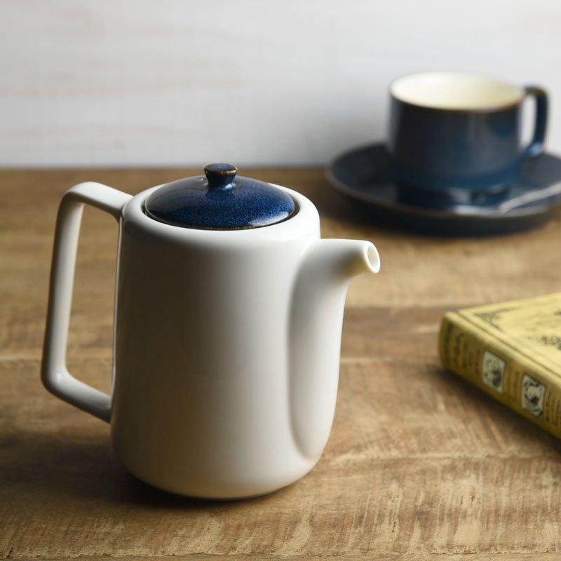 北欧ブルー 深ブルー 切立ちティーポット スーニャ型[茶こし付き56.5h][美濃焼]