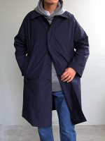 Curly/カーリー ARDWICK COAT Check (NAVY CHECK)