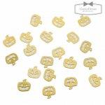 【メタルチャーム】約20枚 かぼちゃ《きれいめゴールド×ゴールド》[パンプキン,ハロウィン,かぼちゃ,ミニ,薄い,ネイル]