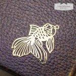 【透かしチャーム】きんぎょ  《きれいめゴールド》 [金魚,魚,和,和風,日本,金魚すくい,透かし]