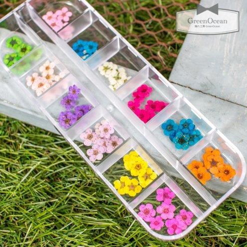 【ドライフラワー】お色スタッフお任せ♪カラフルセット こでまり  《12色》 [押し花,小花,花材,カラフル,コデマリ,毬,ミニ,ちっちゃい,小,ネイ…