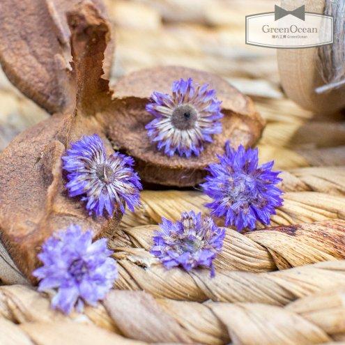 【ドライフラワー】5枚 デイジー  《パールブルー》 [小花,プリザーブドフラワー,花材,flower,押し花,青,紫]
