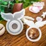 【シリコン型・モールド】天使の羽リング [ねんど型,粘土,エンジェル,羽根,フェザー,指輪]