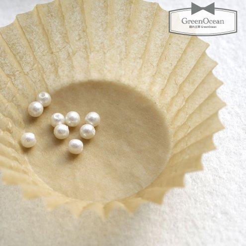 【パール】10個 シャイニーパール  4mm《ホワイト》 [プラスチック,通す,真珠,ビーズ]