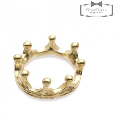 【チャーム】クラウンリング 《きれいめゴールド》 [王冠,指輪,レジン空枠,フレーム]