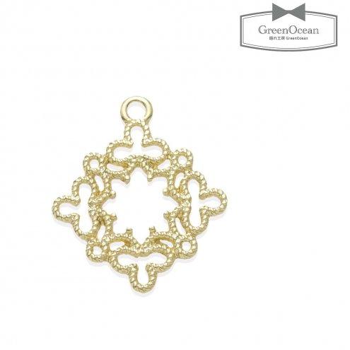 【空枠】ダイヤフラワー レース 《きれいめゴールド》 [すかし,繋ぐ,つなぐ,繋げる,つなげる,四角,しかく,フレーム,チャーァ