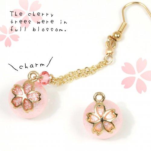 【チャーム】桜パール 12mm  《薄ピンク》 [真珠,さくら,サクラ,和風,日本,ビーズ,春,スプリング,植物]