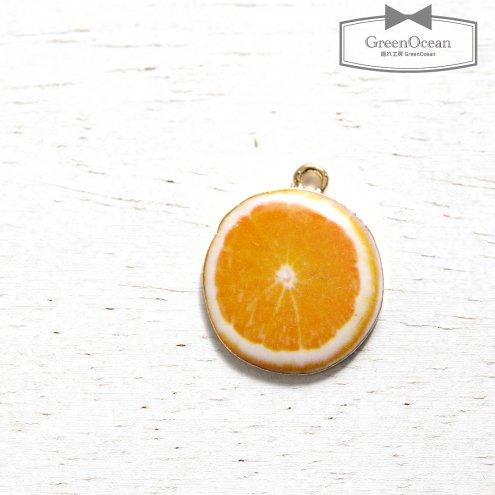 【チャーム】オレンジ  《きれいめゴールド》 [輪切り,おれんじ,果物,フルーツ,食べ物,プリント]
