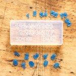 【シリコン型・モールド】 ネールアート(^^♪  数字シリコン型 [ねんど型,粘土,モールド,ナンバー,極小,貼り付けパーツ]