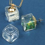 【ガラスドーム】キューブ 15mm  (ガラスのみ) 《クリア》 [瓶,ビン,ボトル,グラス,テラリウム]