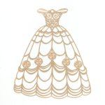 【メタルチャーム】プリンセスドレス C  《きれいめゴールド》 [王妃,お姫様,シンデレラ,人魚姫,ジャスミン,オーロラ姫,ティンカーベル,夢の国,薄い,透かし,童話]