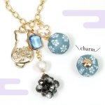 ♪【チャーム】和柄 ボール 《ライトブルー》 [和風,日本,花]