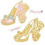 【空枠】プリンセス・パンプスD 《ゴールド》 [靴,ファンタジー,童話,ヒール,くつ,フレーム]