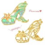 【空枠】プリンセス・パンプスE 《ゴールド》 [靴,ファンタジー,童話,ヒール,くつ,フレーム]
