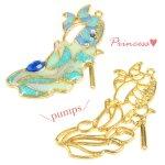 【空枠】プリンセス・パンプスF 《ゴールド》 [靴,ファンタジー,童話,ヒール,くつ,フレーム]