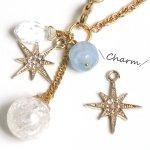 【チャーム】キラキラ宝石スター《きれいめゴールド×クリア》[星,宇宙,夜空,ムーン]