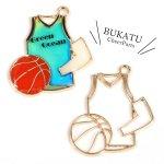 【空枠】バスケット《きれいめゴールド》[バスケ,部活,籠球,スポーツ,試合,応援,NBA,運動]