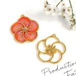 【空枠】梅の花2《ゴールド》[和風,日本,花,はな,フラワー,うめ,レジン枠,フレーム]
