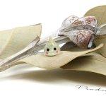 ◎【デコパーツ】森の妖精しずくちゃん《イエローラメ》[雫,滴,貼り付け,デコ,きらきら,かわいい]